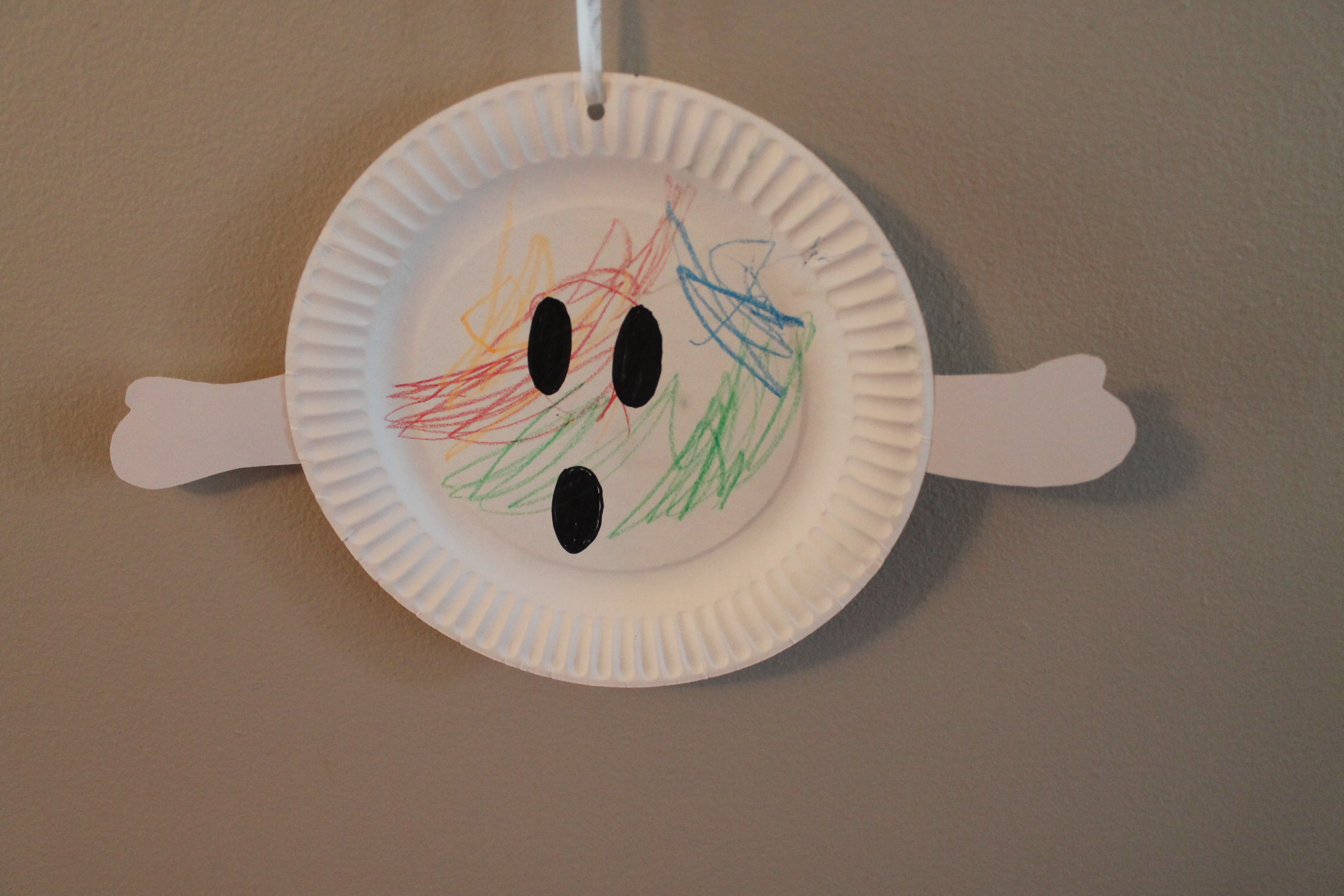 Paper Plate Ghost Crafts Halloween