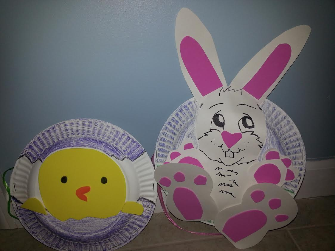bunny & Bunny and Chick Paper Plate Purses | momeefriendsli