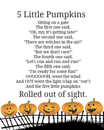 Witty image with regard to five little pumpkins printable