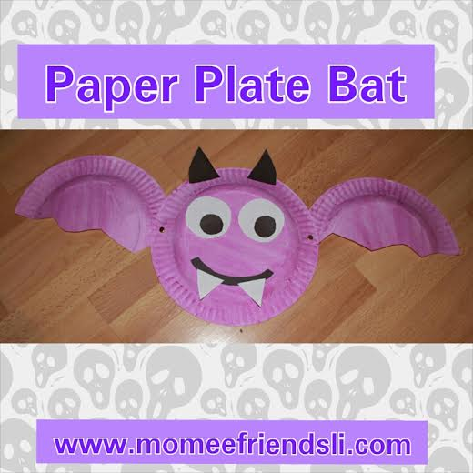 All you need to make this craft is 2 Paper Plates ...  sc 1 st  momeefriendsli & Paper Plate Bat | momeefriendsli