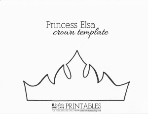 elsa crown template