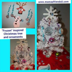 frozen xmas tree