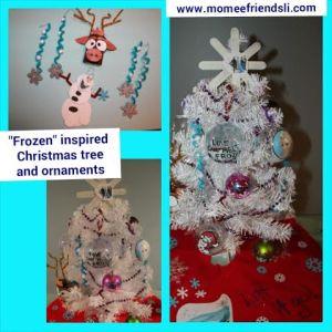 frozen xmas tree