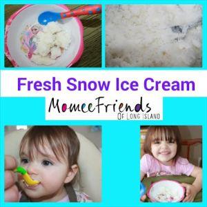 ice cream snow