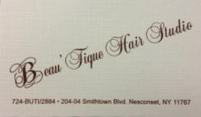 Beau'tique Hair Studio 204 Smithtown Blvd # 4 Nesconset, NY 11767 631.724.2884