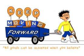 keep moving foward