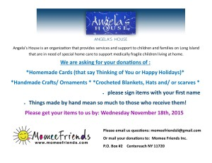 holiday donations- angelas house 2015