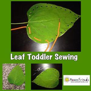 leaf toddler sewing