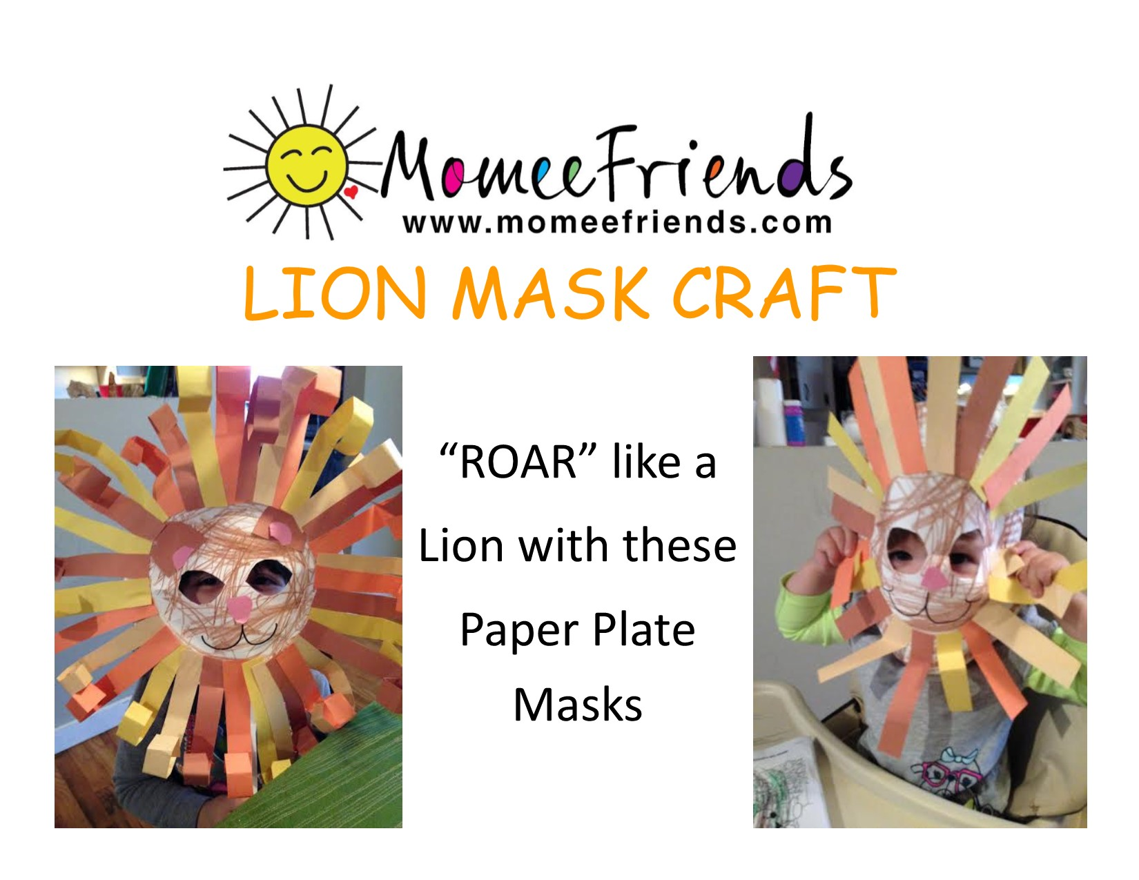 Lion mask made out of paper plate