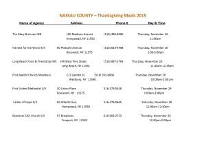 thanksgiving meals - nassau