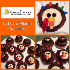 Turkey and Pilgrim Cupcakes