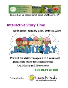 January 2016 Sweetbriar Storytime