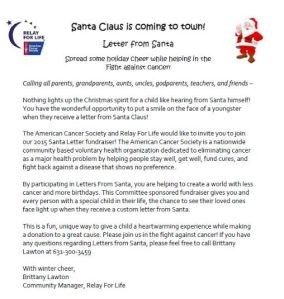santa letters to help the american cancer society momeefriendsli. Black Bedroom Furniture Sets. Home Design Ideas