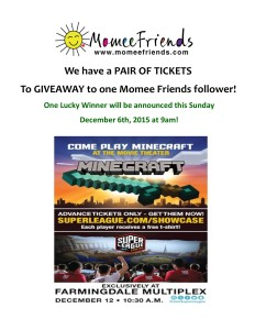 minecraft dec.12th event ticket giveaway