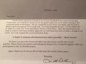 lana- principal letter