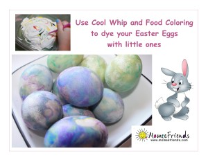 Easter eggs cool whip dye