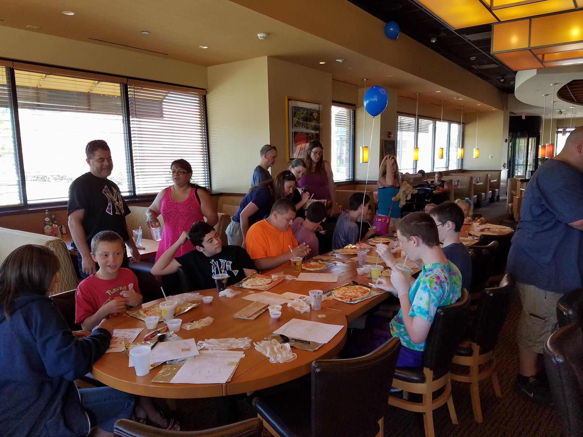 cpk pizza party fundraiser to benefit justice 4 autism