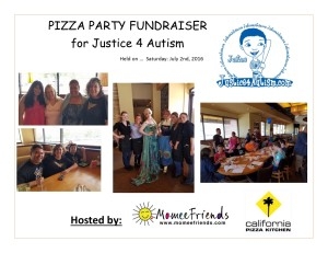 pizza party for Justice