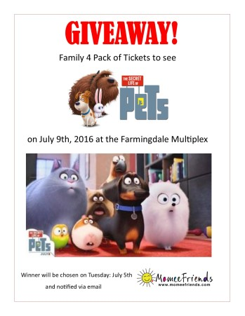 secret life of pets giveaway