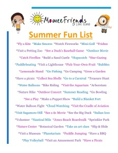 Summer Fun List - Momee Friends