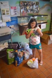 gabby donates