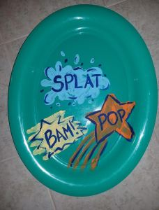 plastic plate decorated