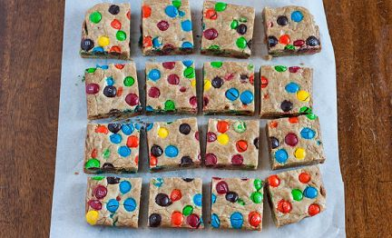 polka dot blondies