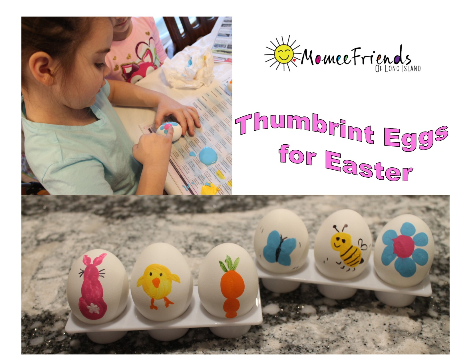 Thumbrint eggs for easter momeefriendsli these adorable eggs are such a cute idea for kids to take home to their families as a classroom activity negle Image collections