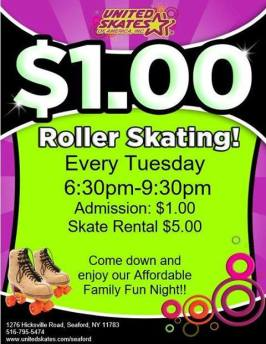 1.00 tuesday united skates massapequa