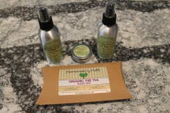 These are the latest products I have tried: Rosewater Spray, Skin Repair, Bug Spray & Tick Repellent and the Organic Tub Tea