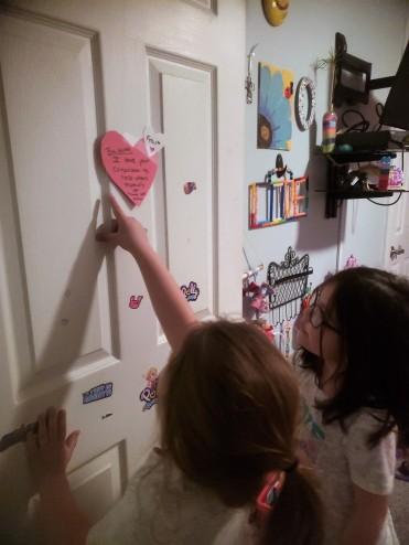 vday hearts door