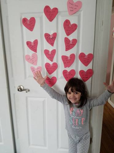 vday hearts on door