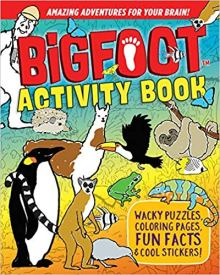 big foot activity book image